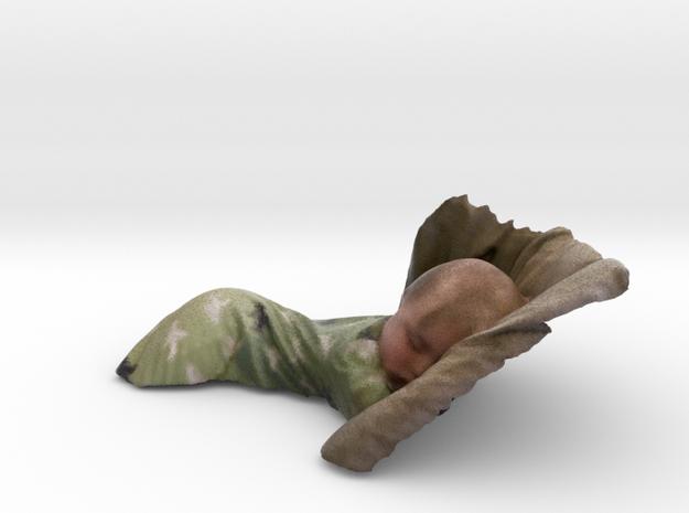 Sleeping Baby 12cm3 in Full Color Sandstone