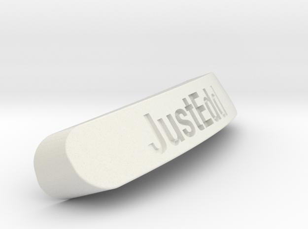 JustEdd Nameplate for SteelSeries Rival in White Natural Versatile Plastic