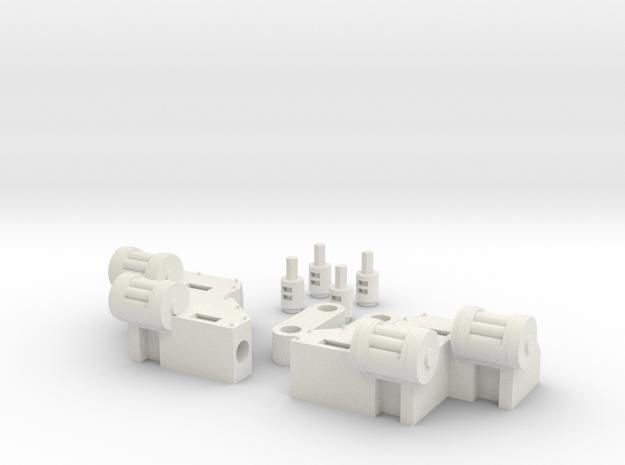 RL gun arms in White Natural Versatile Plastic