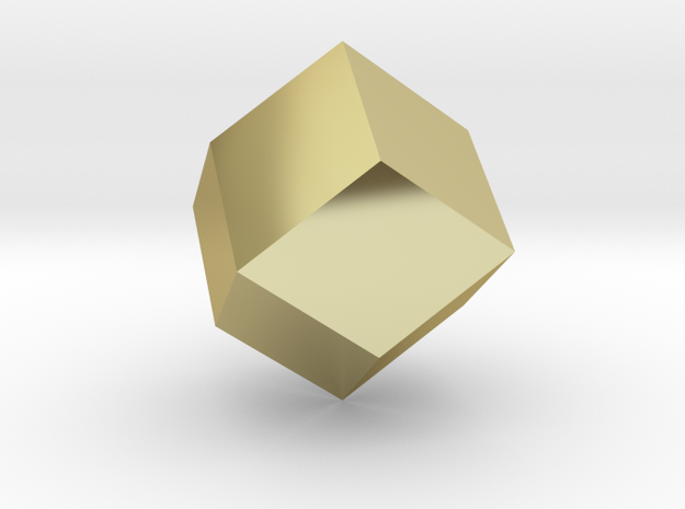 rhombic dodecahedron 3d printed