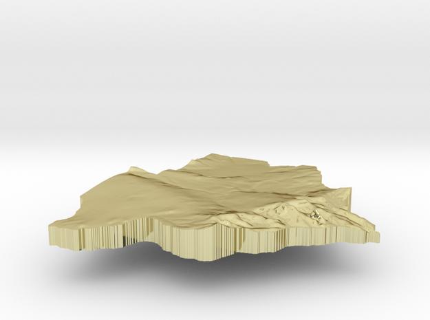 Botswana Terrain Silver Pendant 3d printed