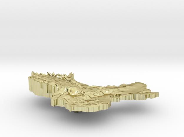 China Terrain Silver Pendant 3d printed