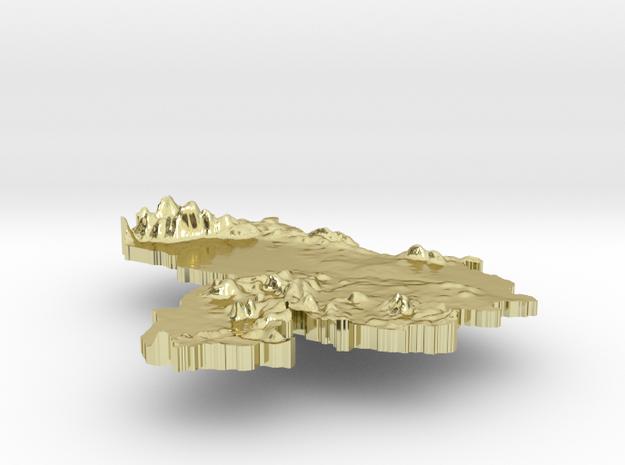 Venezuela Terrain Silver Pendant 3d printed