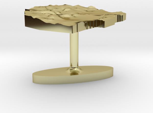 Swaziland Terrain Cufflink - Flat 3d printed