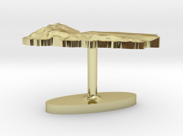 Yemen Terrain Cufflink - Flat 3d printed