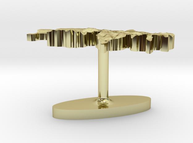 Switzerland Terrain Cufflink - Flat 3d printed