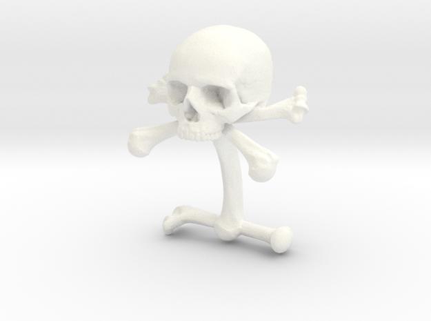 Cufflink Skull & Bones (just one)