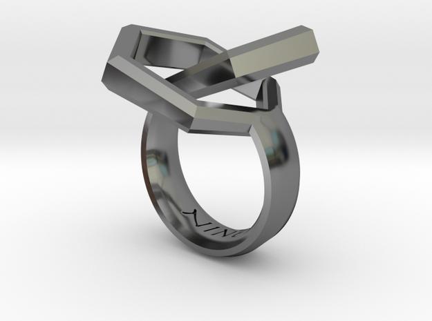 Twin Hexagon Ring