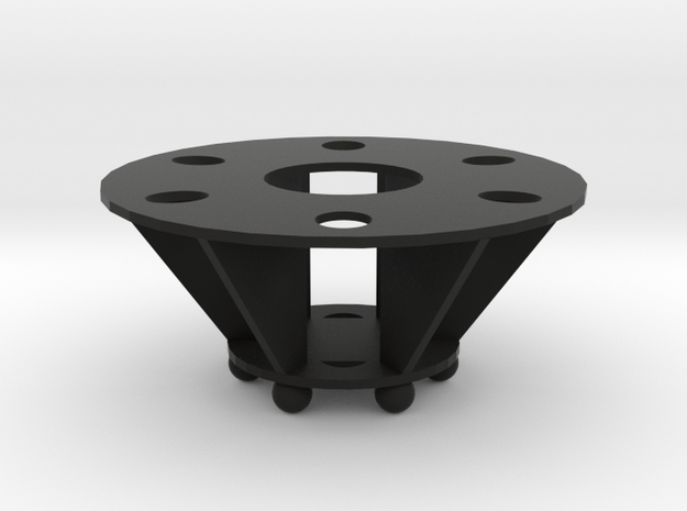 Round 6 Pen Stand in Black Natural Versatile Plastic