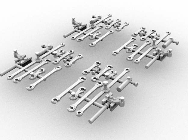 G42 ConnectingRods(OO9/1:76 Scale) in Smooth Fine Detail Plastic