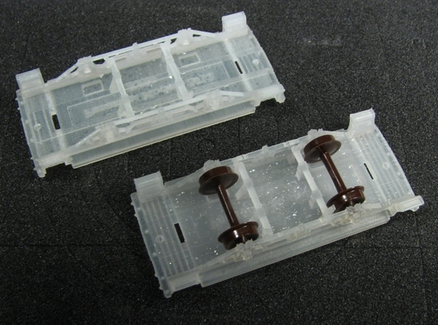 R25a 2 New N Chassis for Arnold Bobber Caboose x2 3d printed