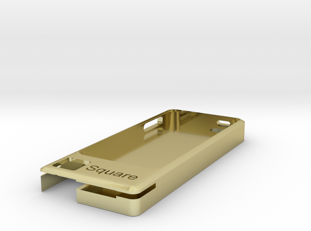 IPhone5 Square Credit Card Case Concept3 3d printed
