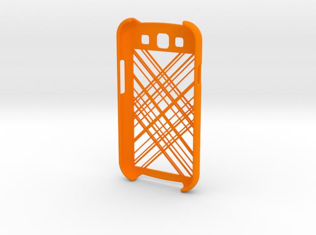 Samsung Galaxy S3 Abstract Lines in Orange Processed Versatile Plastic