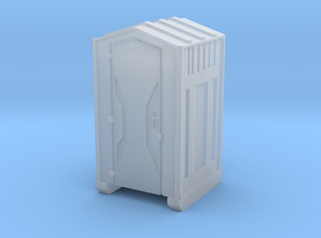 Z Scale Portable Toilet in Smooth Fine Detail Plastic