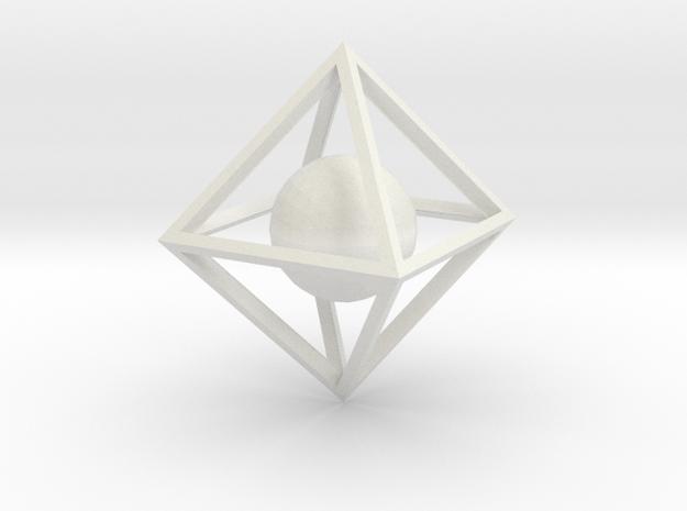 Sphere Pendant in White Natural Versatile Plastic