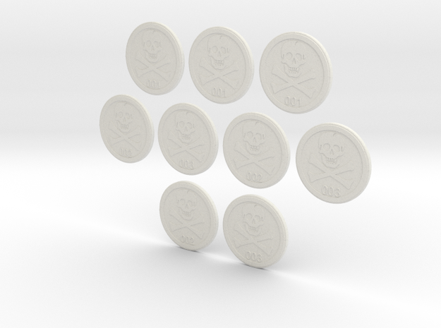 Bases: Jolly Rogers 3 Pack in White Strong & Flexible