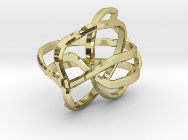 Puzzle Ring v2 - Size 4 3d printed
