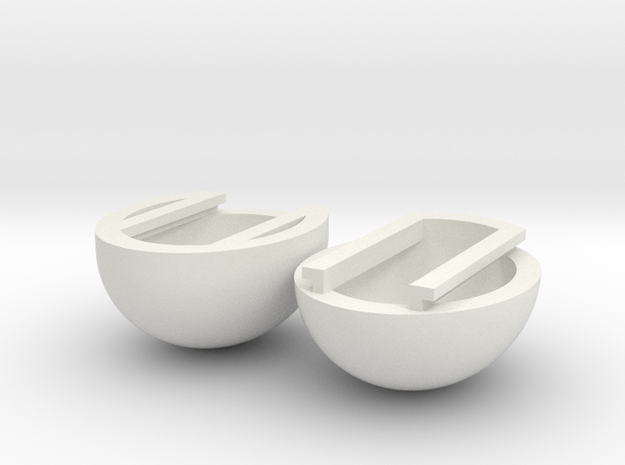 Sliding Egg in White Natural Versatile Plastic