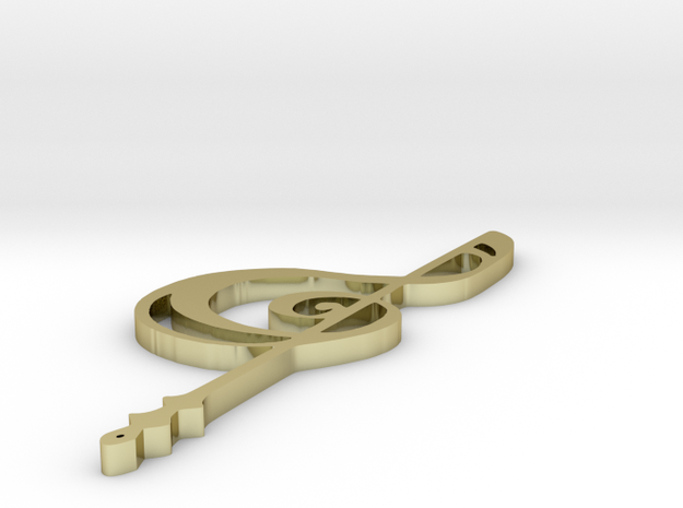 Synchronicity: Rin's Clef Pendant 3d printed