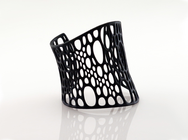 Subdivision Cuff in Black Natural Versatile Plastic: Medium