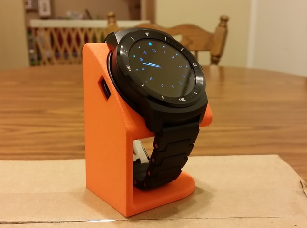 LG G Watch R Desktop Stand in Orange Processed Versatile Plastic