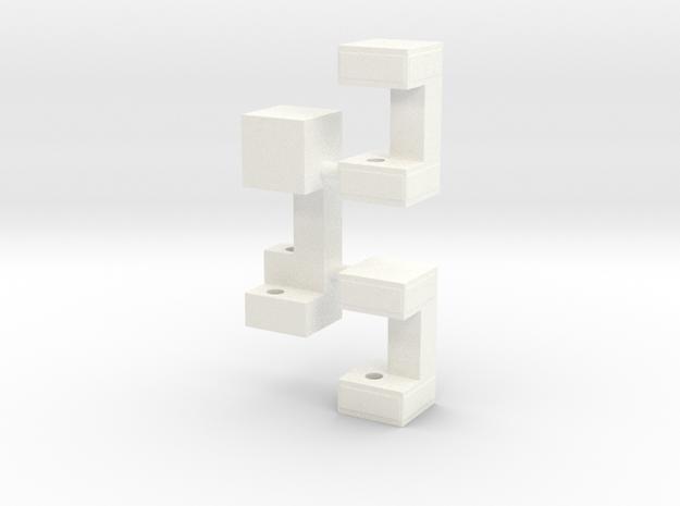 Railbox Mini Part 3 in White Strong & Flexible Polished