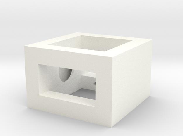 Railbox Mini Part 1 in White Strong & Flexible Polished