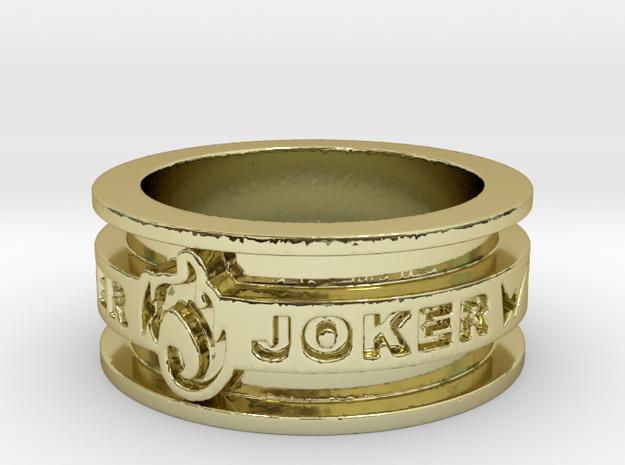 Kamen Rider W - Joker Ring (Size 12) 3d printed