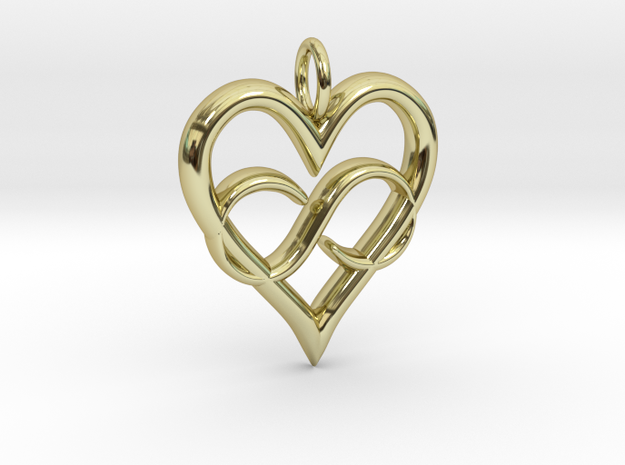 Infinity-heart in 18K Gold Plated