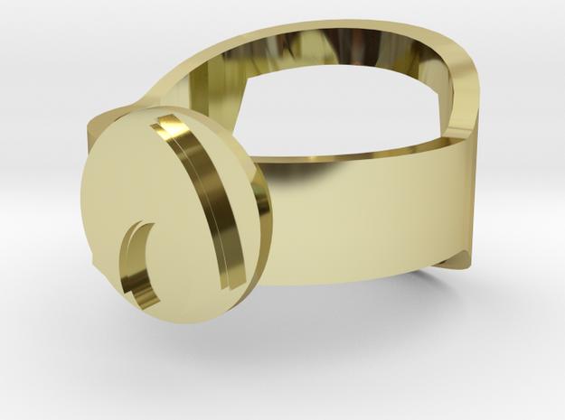 Aquaman Bottle Opening Ring 3d printed
