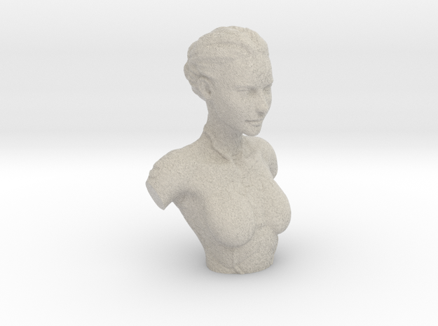 Kasumi Bust in Natural Sandstone
