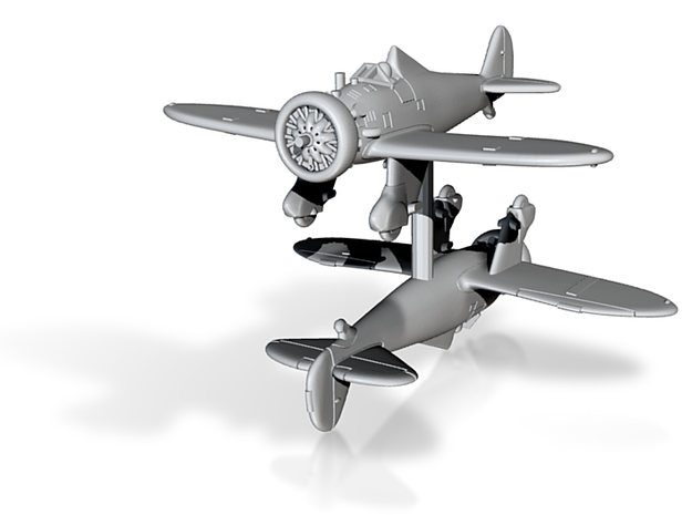 1/200 Boeing P-26A Peashooter (x2) 3d printed