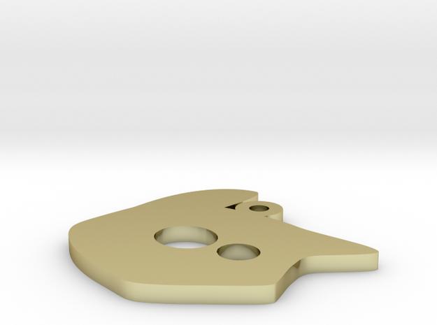 tete chat logo 9 3d printed