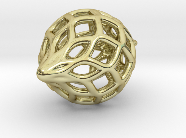 Netted Pendant 3d printed