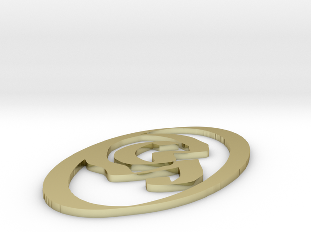 Necklace squiggly #3 3d printed