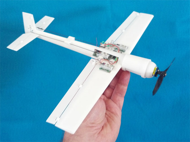 Blaze 2 Micro RC Hotliner Aerobatic 3D Plane in White Natural Versatile Plastic
