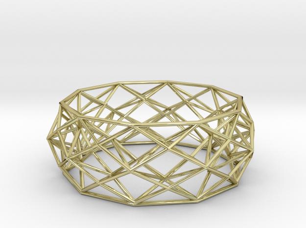 Constructionist Bracelet in Brass 3d printed