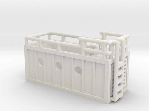 mobiler Pool - 1:220 (Z scale) in White Natural Versatile Plastic