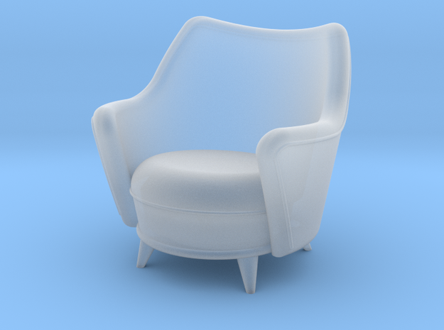 1:48 Moderne Tub Armchair in Smooth Fine Detail Plastic