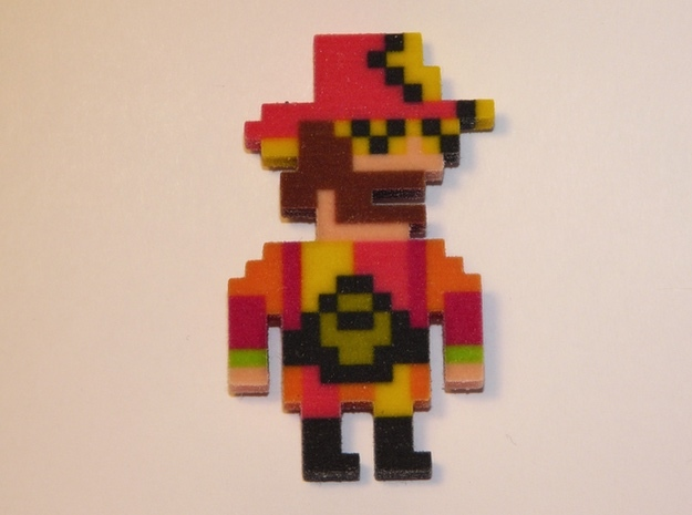 Macho Man Iotacon in Full Color Sandstone