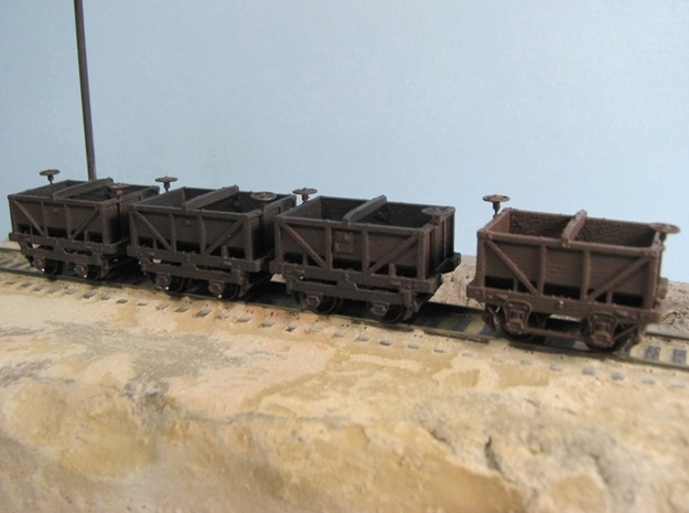 R15 R16 N scale coal jimmy, two types, 2 each 3d printed (note only one R16 model shown)