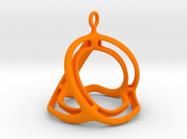 Spherohedron in Orange Processed Versatile Plastic