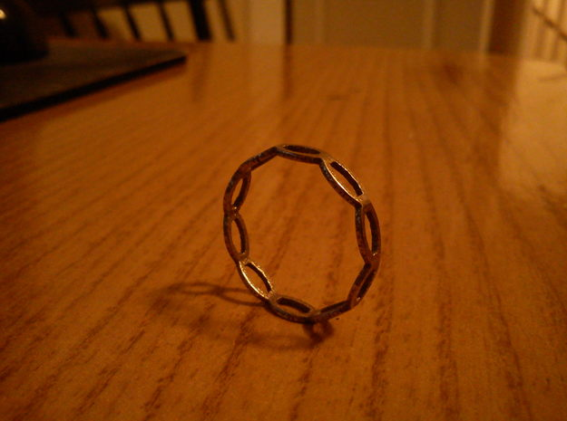 Ring with loops 3d printed
