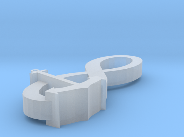 Infinity Anchor Pendant 3d printed