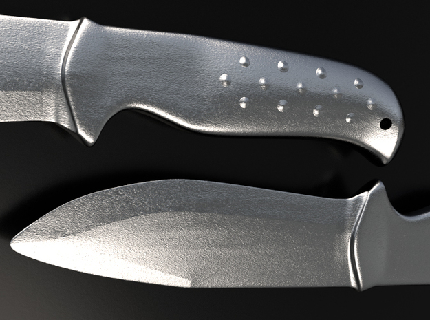 Martial Art Training Knife 3d printed This is a 3D render of the model with steel or alumide  texture