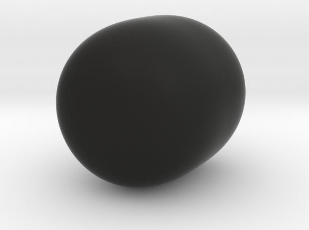 Super Egg in Black Natural Versatile Plastic