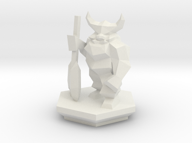 Low Poly Dwarf (Table-Top Alliance Base Unit) in White Natural Versatile Plastic