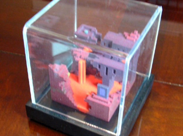 Minecraft Nether Cube World 3d printed
