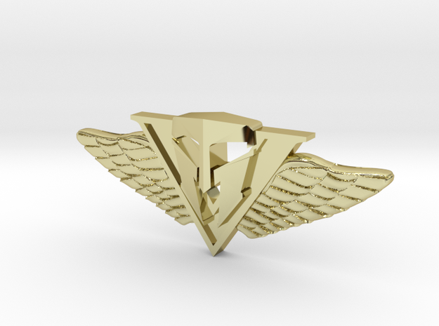 Character Does Matter - Wings For Val in Polished Bronzed Silver Steel