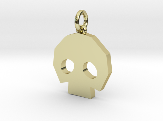 Gold Skulltula token pendant in 18k Gold Plated: Medium
